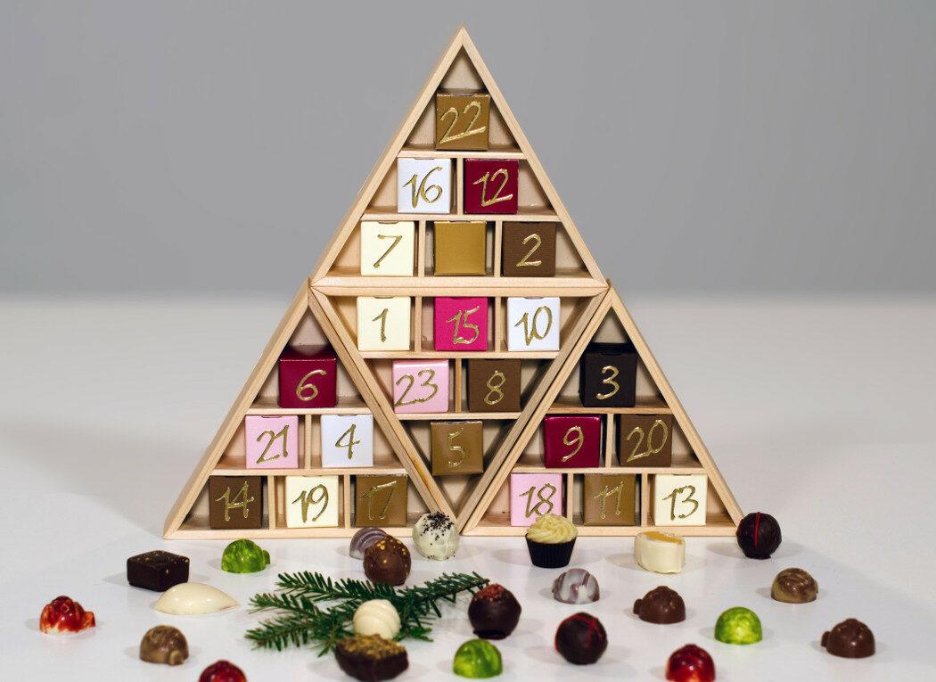 Adventkalender mit 24 Pralinen
